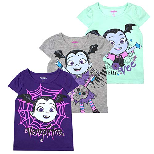 Disney Princess T-Shirts for Girls - 3 Pack Short Sleeve Graphic Tees 3T -