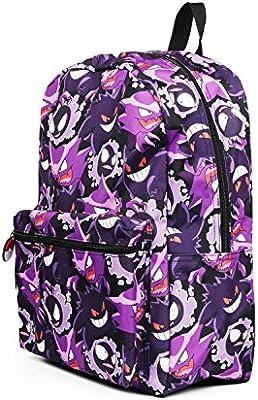 Pokemon Gengar Evolution All over Print Purple Backpack School Bag
