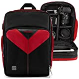 VanGoddy Sparta Fire Red DSLR & Mirrorless Camera Backpack Suitable for Canon EOS Rebel SL1/SL2/T5/T6/T7/T5i/T6i/T6s/T7i/EOS-1D X/X Mark II