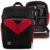 VanGoddy Sparta Fire Red Camera Backpack Suitable for Canon XA11/XA15/XA10/XA35/XA30/XA20/XC15/XC10/XF400/XF405/XF205/XF200/XF105/XF100/VIXA HF G20, G40, G21, GX10