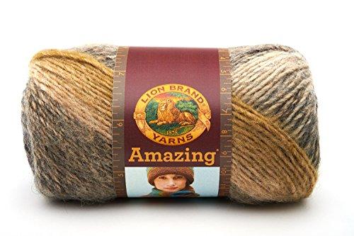 Lion Brand Yarn 825-217 Amazing Yarn, Olive Medley