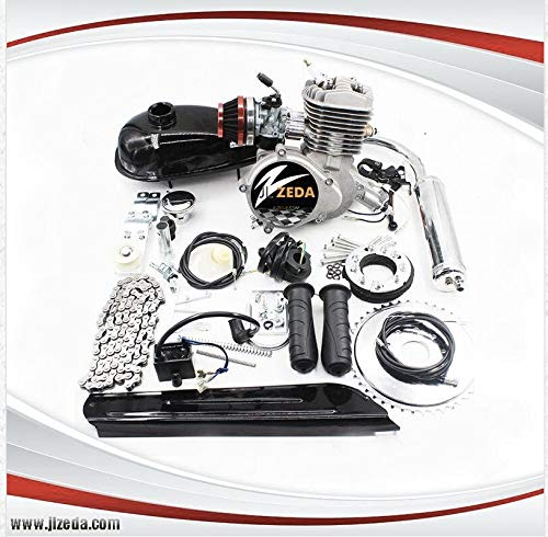 Zeda 80CC Triple 40 Engine Kit with Reed Valve, Window Piston and Rongtong Racing Carburetor, 36 Tooth Rear Sprocket ...