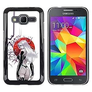 Be Good Phone Accessory // Dura Cáscara cubierta Protectora Caso Carcasa Funda de Protección para Samsung Galaxy Core Prime SM-G360 // sexy butt japan sun girl bat woman leather