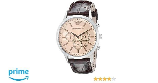 buy footwear wholesale dealer Emporio Armani Men's AR2433 Dress Brown Leather Watch