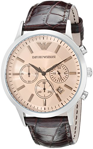 Emporio-Armani-Mens-AR2433-Dress-Brown-Leather-Watch