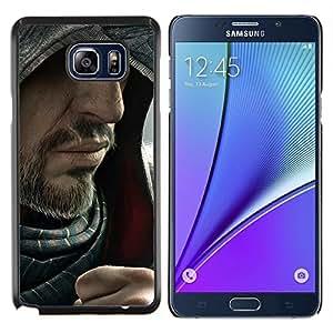 Barbudo Assasin- Metal de aluminio y de plástico duro Caja del teléfono - Negro - Samsung Galaxy Note5 / N920