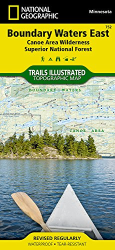 [Canoe Area Wilderness, Superior National Forest] (National Geographic Trails Illustrated Map) ()