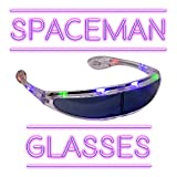 Fun Central LED Light Up Spaceman Shades - Novelty Sunglasses for Adults & Kids Party Favors