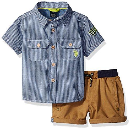 U.S. Polo Assn. Boys Sport Shirt and Short Set