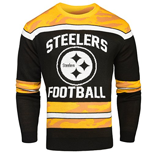 FOCO Pittsburgh Steelers Ugly Glow In The Dark Sweater - Mens Extra Large by FOCO