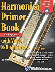 The Harmonica Primer Book for Beginners with Video Access by Tom Wolf is designed for the beginning harmonica player. This course starts by teaching proper hand positions, mouth positions, blowing, and drawing. You'll quickly learn more advan...