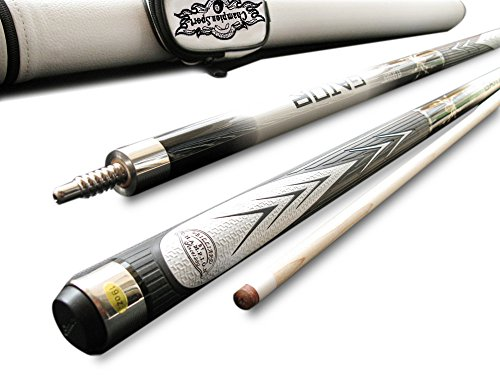 White Champion Spider Billiards Maple Pool Cue Stick, 20oz, 1x1 Pool Cue Case, Billiards Glove