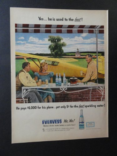 (Evervess sparkling water. art by Stevan Dohanos. print ad. 10 1/4