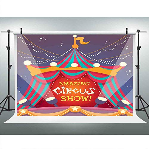Super Circus Show Tents Backdrops for Photography 9x6FT Red Show Spot Lights Photo Backgrounds Theme Party Wall Paper Photo Booth Props LUCKSTY LUP585 -
