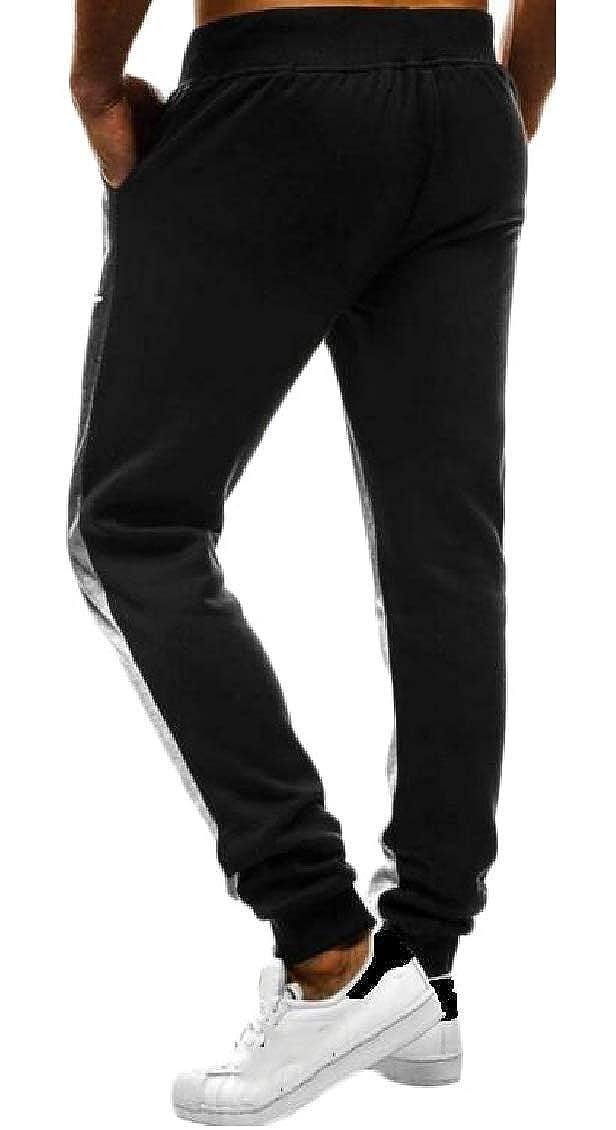 Sweatwater Mens Fitness Elastic Waist Sport Gradient Color Casual Jogger Pants