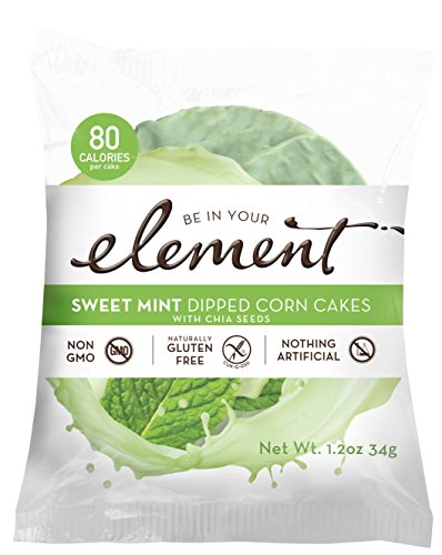 Element Sweet Mint Corn and Chia seed Cakes, case of 16 p...