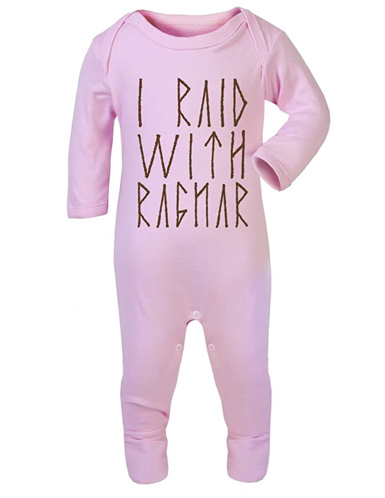 I Raid With Ragnar Vikings Baby Rompersuit/Playsuit BABYRS004