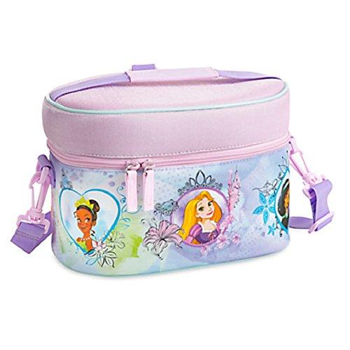 Disney Store Princess Ariel Tiana Jasmine Rapunzel Aurora Lunch Tote Purple New -