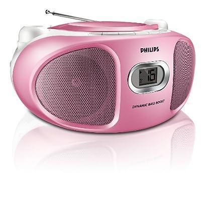 Radio Lecteur K7 CD et MP3 PHILIPS AZ105C ROSE