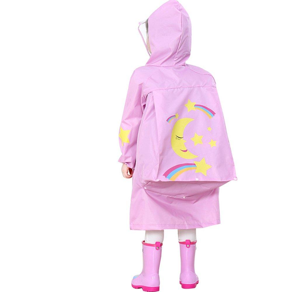Medium Maybesky Veste de Pluie pour Enfants Chapeaux pour Enfants Imperméables écoliers école Maternelle Sac d'école de bébé Poncho Imperméable de Dessin animé Mignon pour Les Filles garçons (
