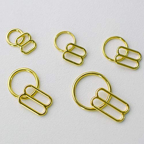 Buckes - Wholesale 50 Sets/lot (100 pcs) Gold Adjustable Bra Rings and Sliders Bra Making Materials - (Size: 12mm)