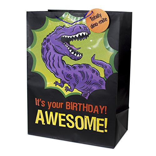 Hallmark Oversized Birthday Gift Bag (T-Rex)