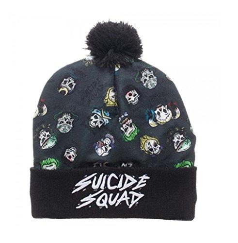 Suicide Squad Sublimated Skulls Pom Beanie