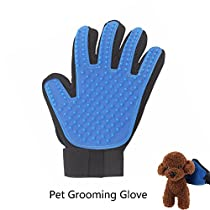 [2018 Upgrade] Pet Grooming Glove, SACHUKOT Shedding Brush Glove Hair Remover Left Massage Tool for Cats Dogs Pets