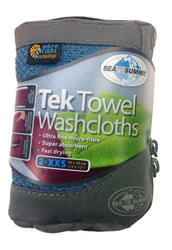 Sea to Summit Tek Towel Washclothes - 2 Pack (Cobalt / Pacific)