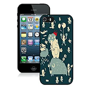Nice Designed Phone Case With Misc Doodles Cover Case For iPhone 5S Black Phone Case CR-416