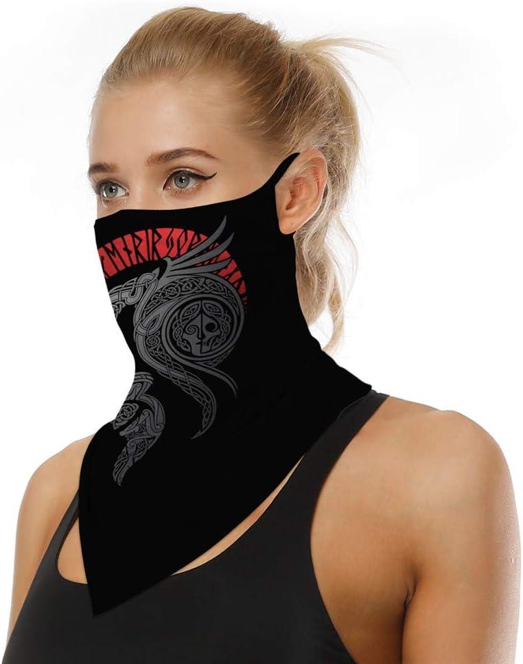 COZOCO Protección Facial, en stock, Reutilizable a prueba de polvo lavable Mascarilla de algodón con bucles para los oídos Bufanda deportiva Tubo para el cuello antipolvo para la cara (B3)