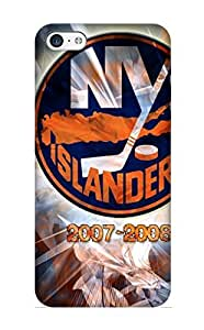 Iphone 5c Hard Back With Bumper Silicone Gel Tpu Case Cover For Lover's Gift New York Islanders HD