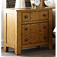 Liberty Furniture 175-BR61 Grandpas Cabin Drawer Night Stand, 27 x 17 x 27, Aged Oak