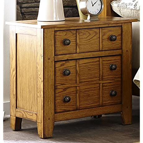 Liberty Furniture 175 BR61 Grandpa S Cabin Drawer Night Stand 27 X 17 X 27 Aged Oak
