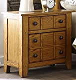 Liberty Furniture 175-BR61 Grandpa's Cabin Drawer Night Stand, 27″ x 17″ x 27″, Aged Oak Review