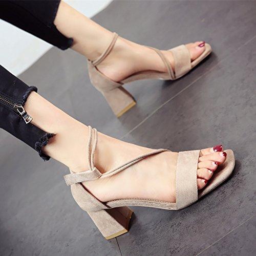sandali comfort tacchi alti toe b Ladies estate YMFIE bende moda 4f7S7c
