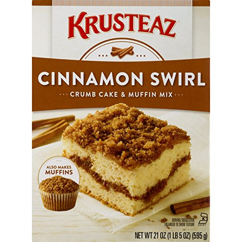(Krusteaz Cinnamon Swirl Crumb Cake and Muffin Mix, 21 Ounce)
