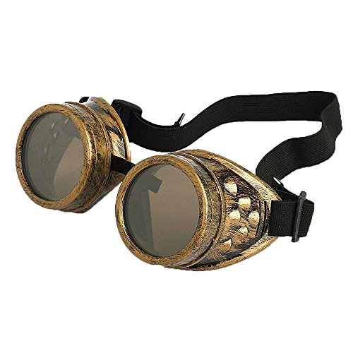 New Sell Vintage Steampunk Goggles Glasses Welding Cyber