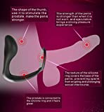DGz Vibrating Prostate Massager Silicone Waterproof G Point Vibrator Stimulator Massager Anal Plug Sexy Play Games Sex Products - Black 10