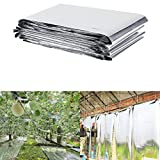 PETP Plant Reflective Film Garden Greenhouse Grow Highly Reflective Covering Foldable Sheets 210 x 120 cm/82.68 x 47.24 inch