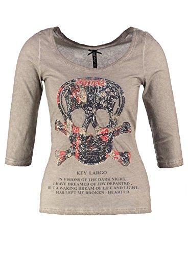 Key Largo - Camiseta de manga larga - para mujer gris
