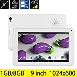 Hometom Tablet PC, 9 Tablet Android 5.1 Quad Core HD1024x600, Dual Camera Blue-Tooth Wi-Fi, 3D Game Supported