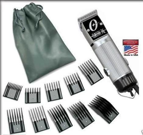 Combo New Oster Classic 76 Limited Edition Hair clipper SILVER (made in usa) very hard to find model Free (10 piece universal oster comb set) by Oster