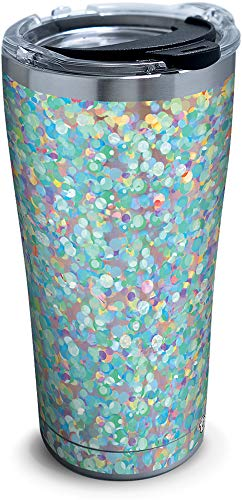 Tervis 1311319 Iridescent Confetti Stainless Steel Insulated Tumbler with Lid, 20 oz, Silver