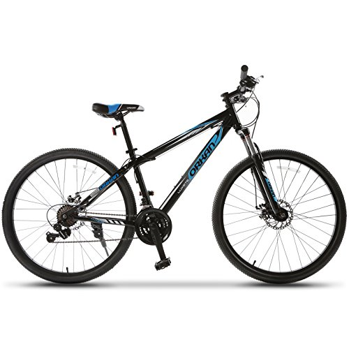 ORKAN 27.5' Men's Mountain Bike 21 Speed Bicycle Shimano Hybrid Black & Blue
