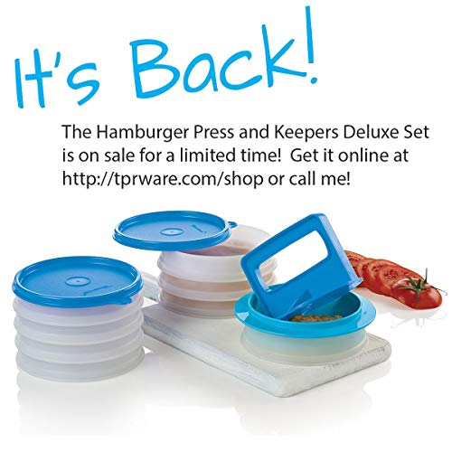 (Tupperware Hamburger Press and Storage Keeper Set)