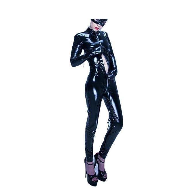 Cosy-L WSJ023 Mujer Lencería Conjuntos Erotica Seductive Cuero Charol Ropa Interior Elástica Vestido sin Mangas Club: Amazon.es: Ropa y accesorios