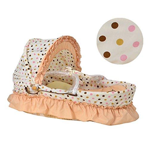 Baby Corn Leaf Basket Set Moses Palm Basket Bed Cradle (B) by AVGe