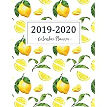 2019-2020 Calendar Planner: 2019 - 2020 Two Year Calendar Planner | Daily Weekly And Monthly For Academic Agenda Schedule Organizer Logbook and Journal Notebook | Orange Lemon Cover