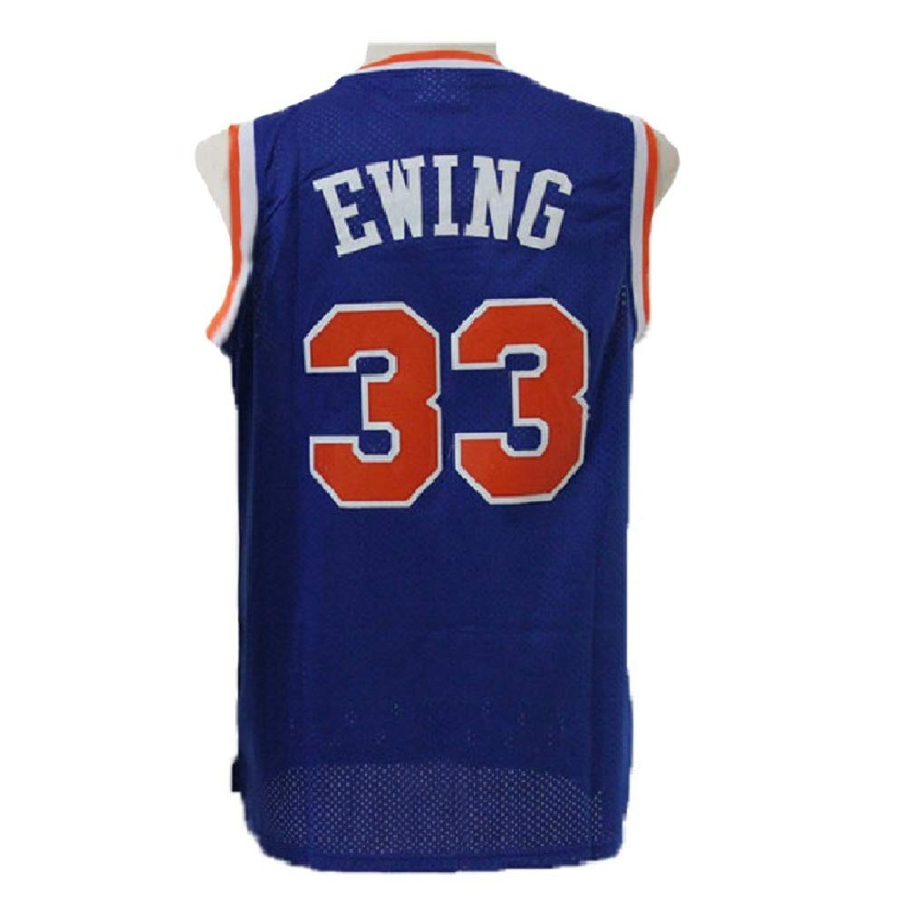 new product e8107 337bf Men's Ewing Jerseys Basketball Athletics Jerseys Retro Jersey 33 Blue